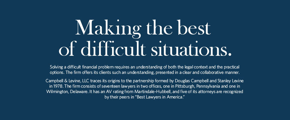 Solving a difficult financial problem requires an understanding of both the legal context and the practical options. The firm offers its clients such an understanding, presented in a clear and collaborative manner.